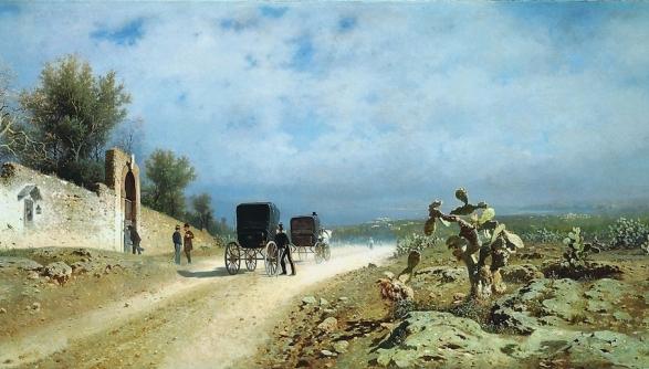Strada di campagna (Un giorno di sole in Sicilia) di Francesco Lojacono, 1877