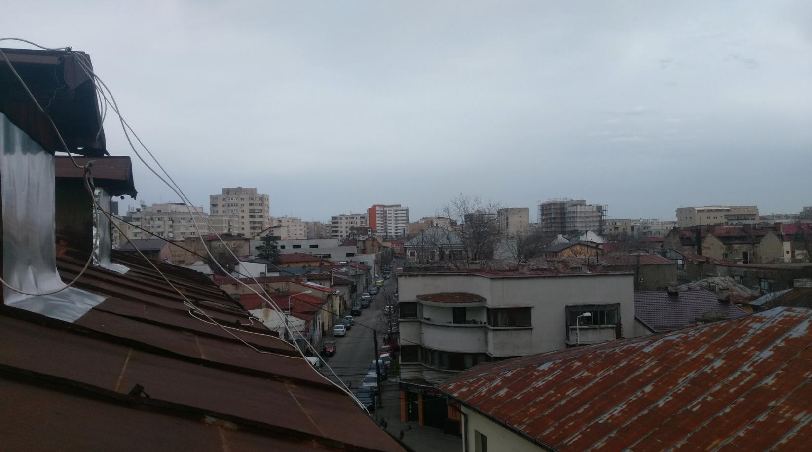 Una plumbea vista dal balcone di casa di Philip