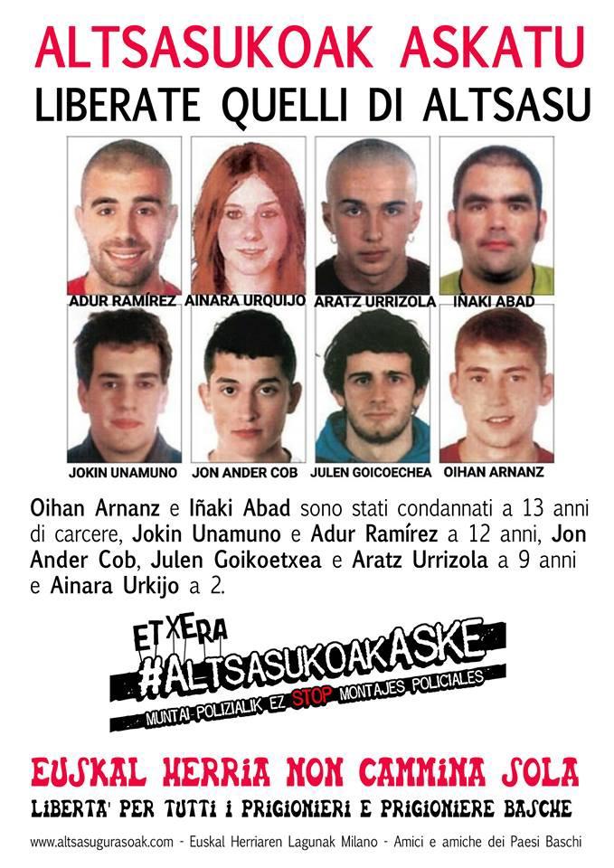 Dalla pagina Facebook «Amici e amiche del popolo basco»