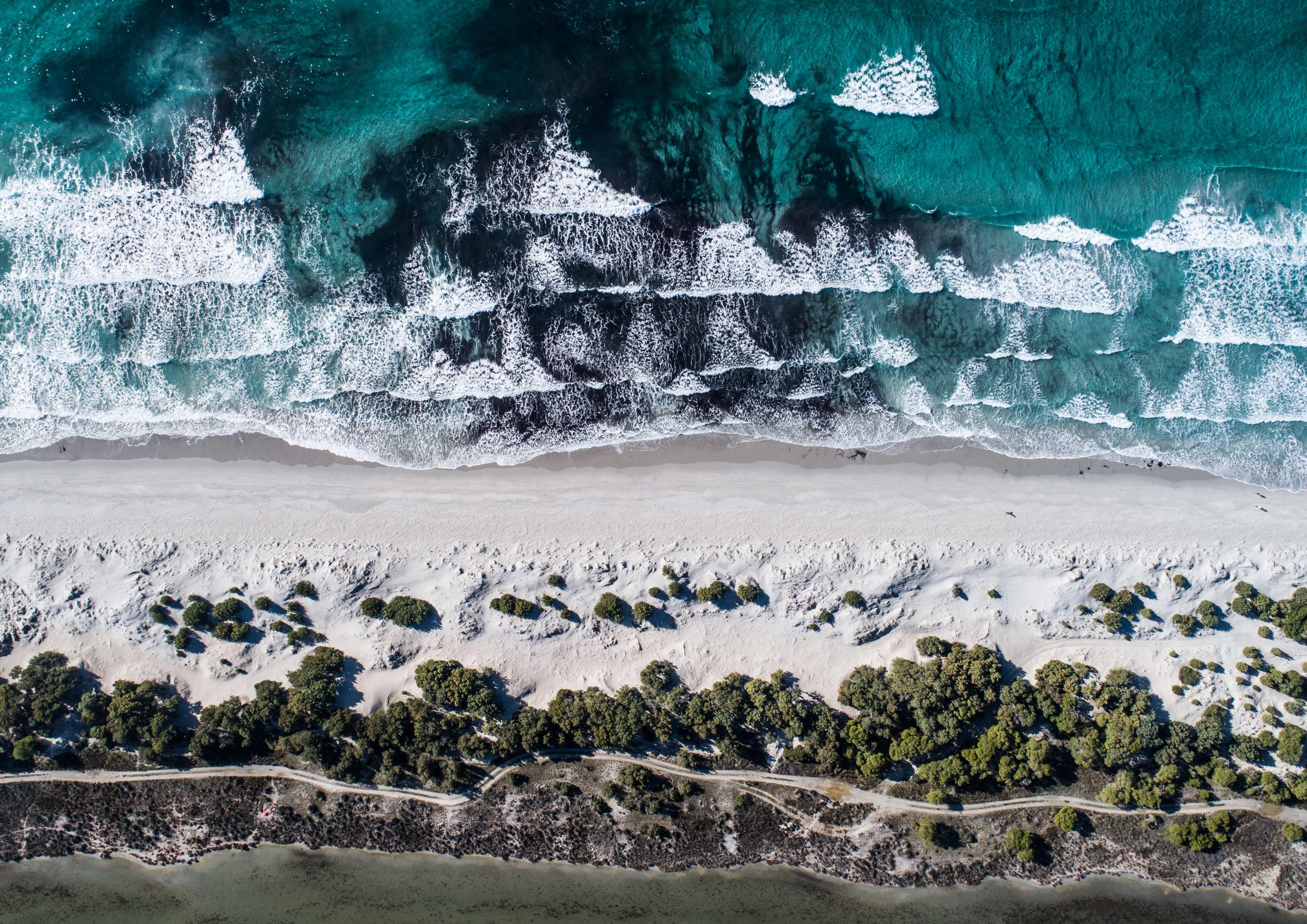 Spiaggia di Porto Pino, lungo la costa sud-occidentale della Sardegna nel Golfo di Palmas